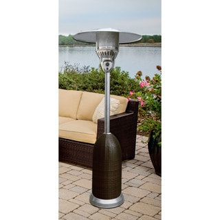 Hanover 7-foot 41,000 BTU Round Wicker Propane Patio Heater