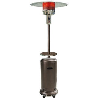 Hanover Hammered Bronze Finish 7-foot 41,000 BTU Steel Umbrella Propane Patio Heater