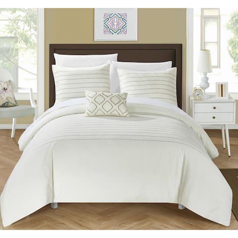 Silver Orchid Monroe 8-piece Beige Bed in a Bag Duvet Set