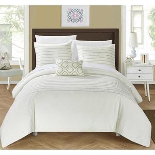 Chic Home Kingston 8-Piece Beige Bed in a Bag Duvet Set
