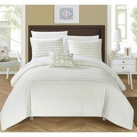 Silver Orchid Monroe 8-piece Beige Bed in a Bag Duvet Set