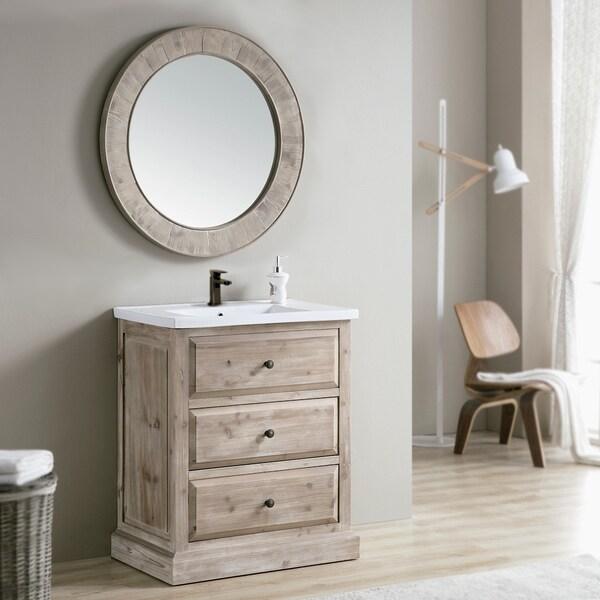 Shop Rustic Style 30 Inch Single Sink Bathroom Vanity With
