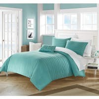 Chic Home 4-Piece Kingston Turquoise Duvet Cover Set