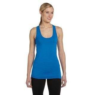Bamboo Women's Racerback Royal/Dark Navy Tank