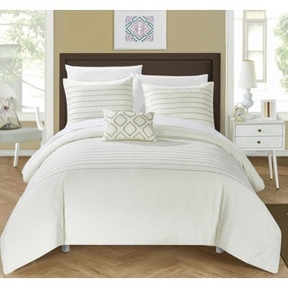 Chic Home 4-Piece Kingston Beige Duvet Cover Set