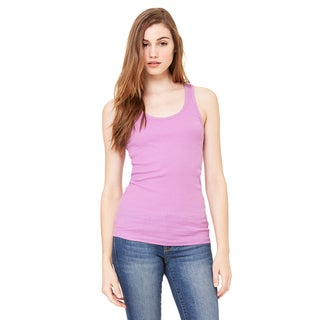 2x1 Women's Rib Racerback Longer Length Violet Tank
