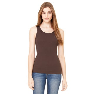 2x1 Women's Rib Chocolate Tank