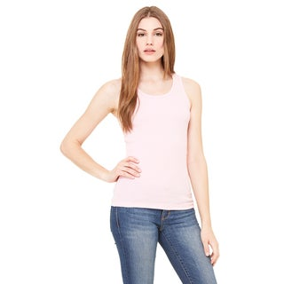 2x1 Women's Pink Rib Tank