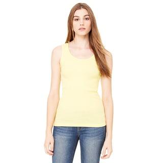 2x1 Women's Yellow Rib Tank