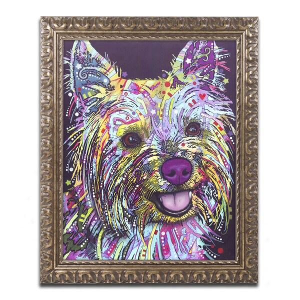 Dean Russo 'Yorkie II' Ornate Framed Art