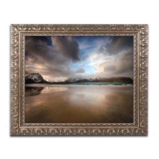 Philippe Sainte-Laudy 'Ramberg Beach' Ornate Framed Art