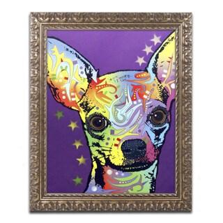 Dean Russo 'Chihuahua II' Ornate Framed Art
