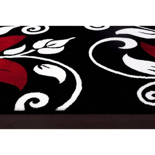 Persian Rugs Modern Fl Black
