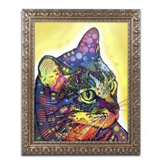 Dean Russo 'Confident Cat' Ornate Framed Art