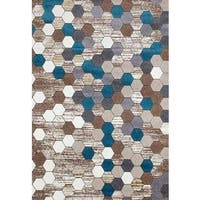 "Persian Rugs Colorful Honeycomb Area Rug - 7'10"" x 10'6"""