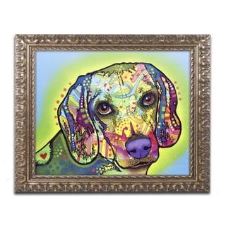 Dean Russo 'Beagle' Ornate Framed Art