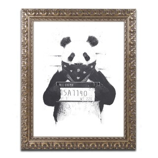 Balazs Solti 'Bad Panda' Ornate Framed Art