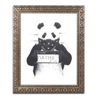 Balazs Solti 'Bad Panda' Ornate Framed Art