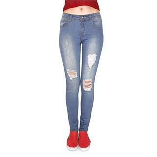 Juniors' Distressed Stretchy Skinny Jeans