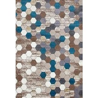 Persian Rugs Colorful Honeycomb Area Rug - 5'2 x 7'2