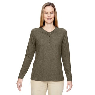 Excursion Nomad Women's Dark Oakmoss 487 Performance Waffle Henley