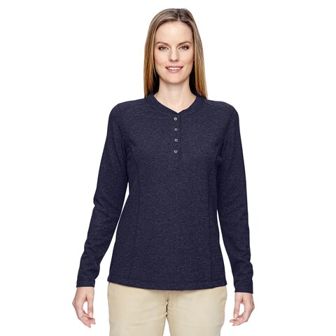 Excursion Nomad Women's Navy 007 Performance Waffle Henley