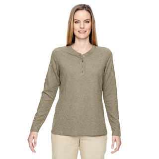 Excursion Nomad Women's Stone 019 Performance Waffle Henley