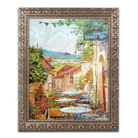 David Lloyd Glover 'Provence Cafe Morning' Ornate Framed Art