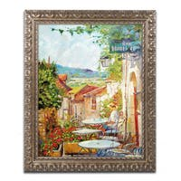 David Lloyd Glover 'Provence Cafe Morning' Ornate Framed Art