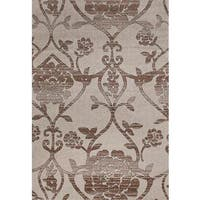 "Persian Rugs Modern Day Antique Styled Floral Area Rug - 7'10"" x 10'6"""