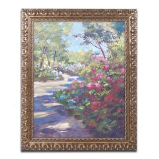 David Lloyd Glover 'Arboretum Garden Path' Ornate Framed Art