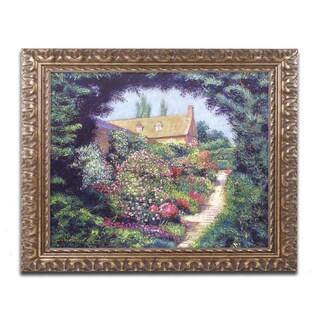 David Lloyd Glover 'English Garden Stroll' Ornate Framed Art