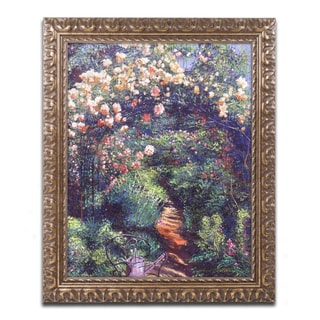 David Lloyd Glover 'Rose Arbor Pathway' Ornate Framed Art