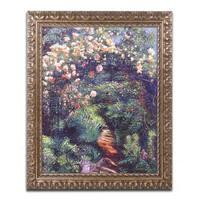 David Lloyd Glover 'Rose Arbor Pathway' Ornate Framed Art