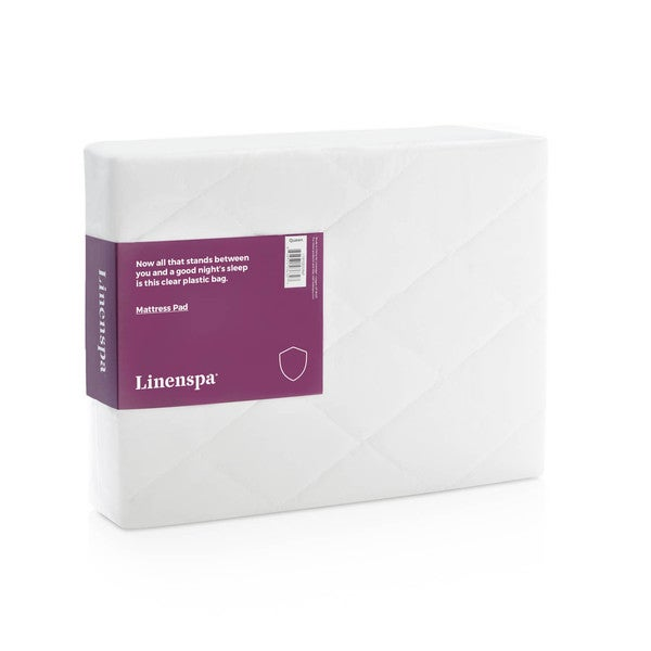 LINENSPA Microfiber Mattress Pad with Stretch Skirt