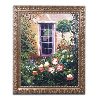 David Lloyd Glover 'Tuscany Villa Garden' Ornate Framed Art