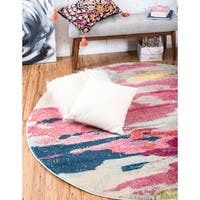 Unique Loom Laurnell Barcelona Round Rug - 8' 0 x 8' 0