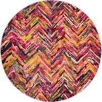 Unique Loom Besos Estrella Round Rug - Multi - 8' x 8'