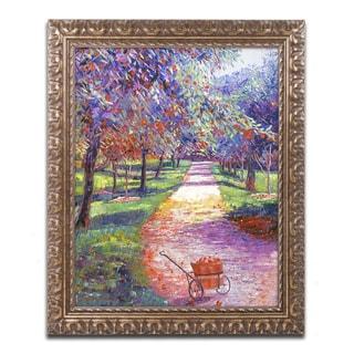 David Lloyd Glover 'French Apple Orchards' Ornate Framed Art