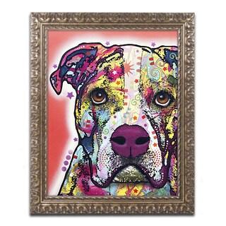 Dean Russo 'American Bulldog' Ornate Framed Art