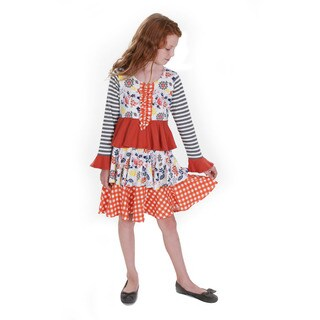 Jelly the Pug Farrah Fox Hill Multicolor Cotton Dress