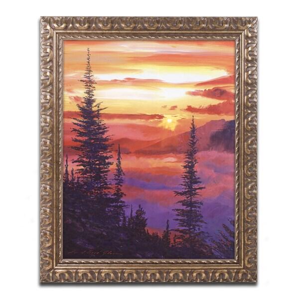 David Lloyd Glover 'Golden Moment' Ornate Framed Art