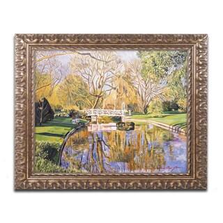 David Lloyd Glover 'Reflections of the White Bridge' Ornate Framed Art