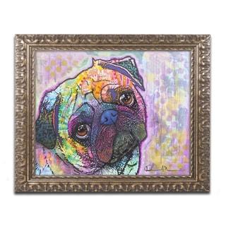 Dean Russo 'Pug Love' Ornate Framed Art