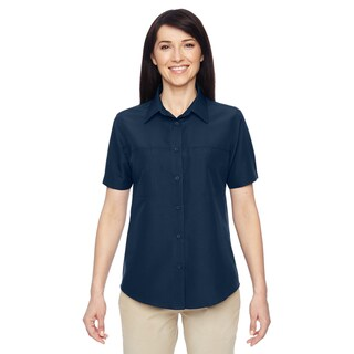 Key West Women's Navy Short-Sleeve Performance Staff Shirt