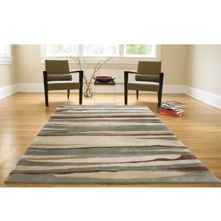Greyson Living Mora Burgundy/ Grey/ Beige Area Rug (5'3 x 7'6)