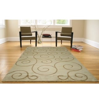 Greyson Living Tendril Green Area Rug (5'3 x 7'6)