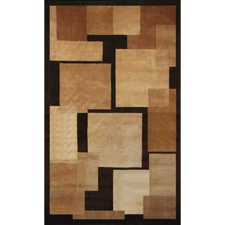 Greyson Living Deco Tan/ Beige/ Chocolate Area Rug (5'3 x 7'6)