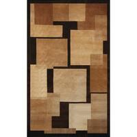 Greyson Living Deco Tan/ Beige/ Chocolate Area Rug (5'3 x 7'6)