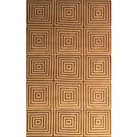 Eternity Gold/ Brown Area Rug by Greyson Living (5'3 x 7'6) - 5' x 8'